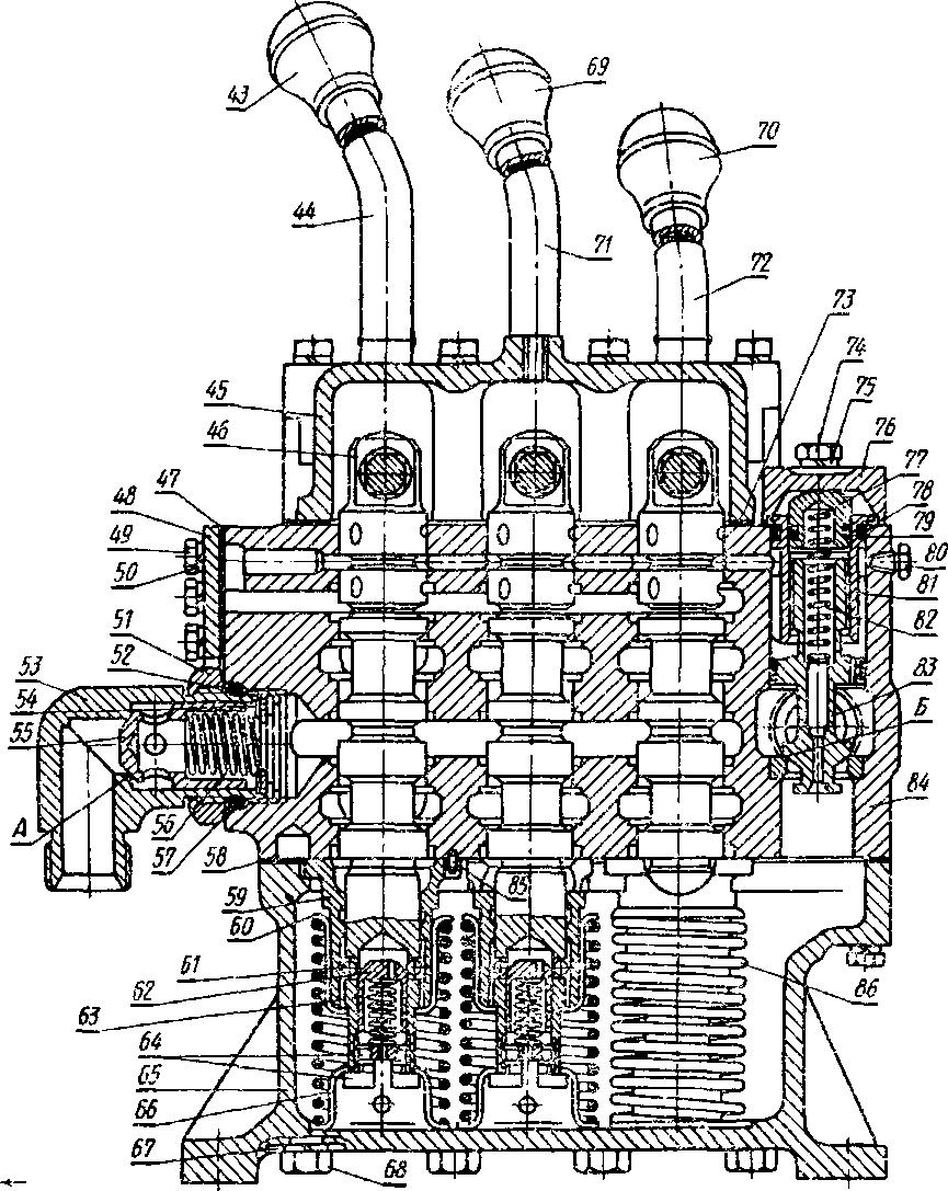 гидравлическая схема трактора т-150